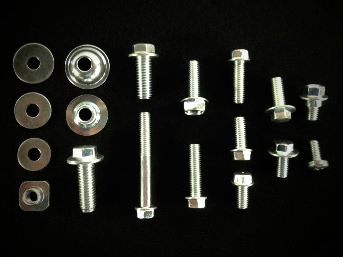 SUZUKI Body bolt kit 64pc DRZ 110 125 200 250 400 650 plastics fenders dirtbike